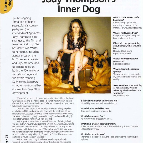 Dog Magazine Article